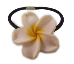 Charming Shark Flower With White Hair Tie Elastic Yellow