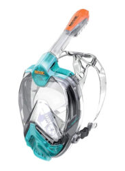 Seac Libera Full Face Mask L/Xl S/Kl Aquamarine/Orange Mask Snorkel Combo