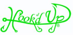 Hook'D Up Signature Decal 3 X 7 Inch Green
