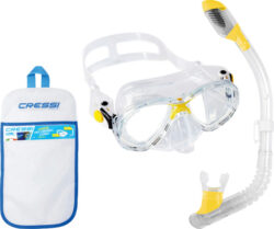 Cressi Child Marea Jr & Mini Dry Mask Snorkel Combo