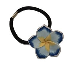 Charming Shark Flower Hair Tie Elastic Blue