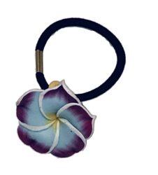 Charming Shark Flower Hair Tie Elastic Purple