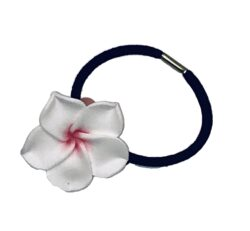 Charming Shark Flower Hair Tie Elastic White/Pink