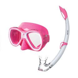 Seac Child Set Bis Bella S/Pi Pink Mask Snorkel Combo Junior Pink