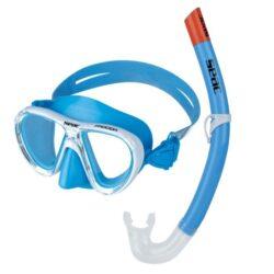Seac Child Set Bis Ischia Md Siltra/Az Light Blue Mask Snorkel Combo Junior Ligh