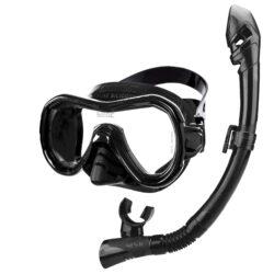 Seac Child Set Bis Giglio Dry S/Bl Black Mask Snorkel Combo Adult Black