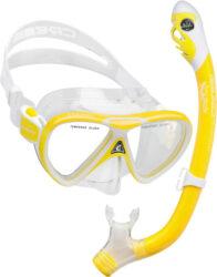 Cressi Child Pegaso & Iguana Dry Mask Snorkel Combo