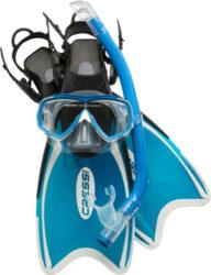 Cressi Child Mini Palau Set Mask Snorkel Fin Combo