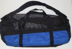 Marine Sports Rubber Coated Black Open Mesh With Cordura Large Bag 30 Inch X 20