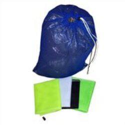 Armor Bags Drawstring Mesh Small Bag 9 Inch X 12 Inch Blue