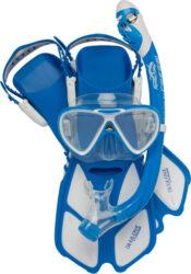 Cressi Child ROCKS PRO DRY SET Mask Snorkel Fin Combo