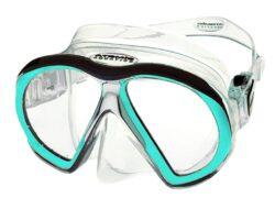 SubFrame Mask, Medium Fit, Clear/Aqua