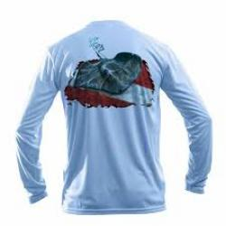 Sea Fear S Arctic Blue Stingray L/S Rash Guard