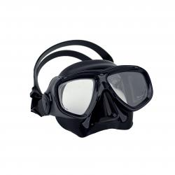 Halcyon Low-profile dual lens mask, with black frame and black skirt