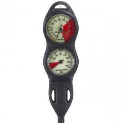 ScubaPro 2 Gauge Pressure Bar Depth Meters