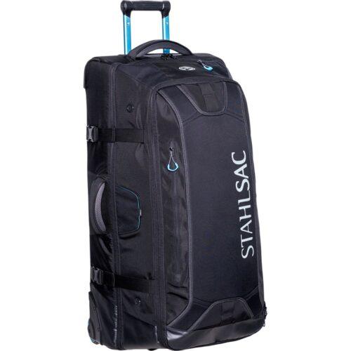 34in Steel Wheeled Bag, Black