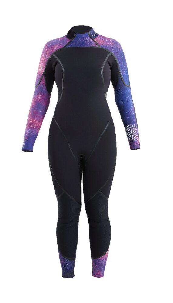 Wetsuits,AQUAFLEX,7MM,GALAXY/BLACK,WMN,4