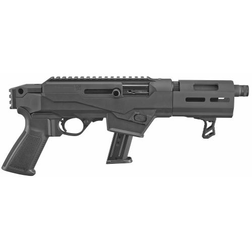 """Ruger, PC Charger, Semi-automatic, Pistol, 9MM, 6.5"""" Barrel Threaded, Aluminum Frame, Black Finish"""