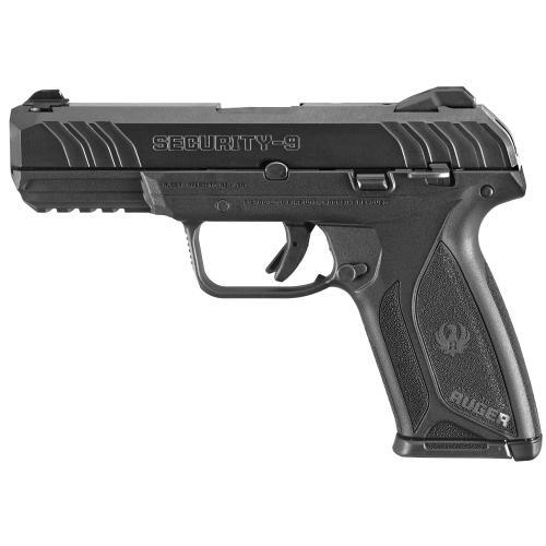 """Ruger, Security-9, Centerfire Pistol, 9MM, 4"""" Barrel, Glass Filled Nylon Frame, Blued Finish"""