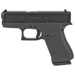 Glock, 43X, Semi-automatic Pistol, Striker Fired, Sub-Compact, 9MM, 3.41