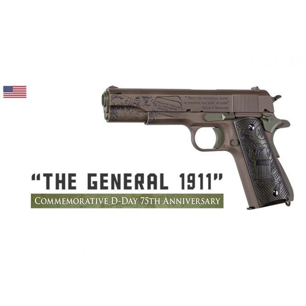 """AUTO ORDNANCE THE GENERAL 1911 D DAY GUN 5"""" BBL 45 ACP 7RD"""
