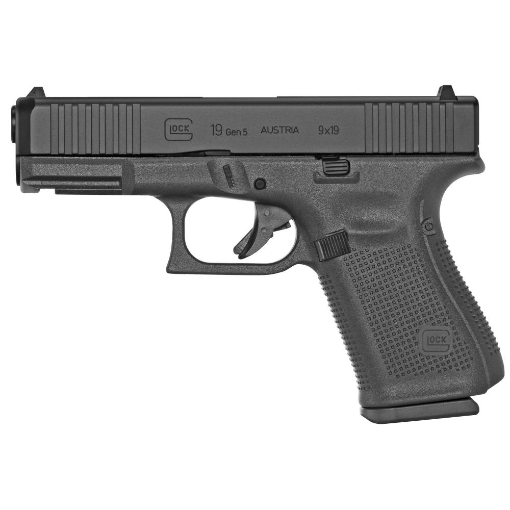 "Glock, 19 Gen5, Striker Fired, Compact, 9MM, 4.02"" Marksman Barrel, Polymer Frame, Matte Finish"