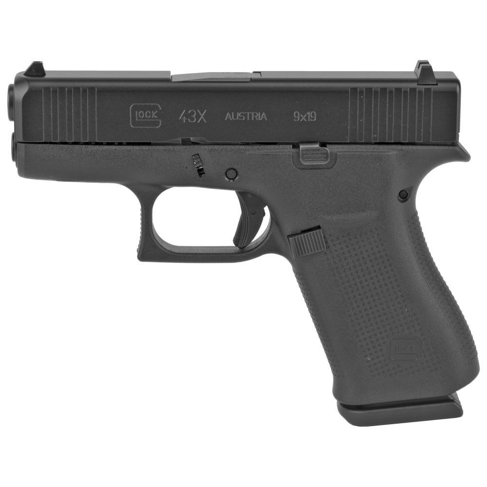 "Glock, 43X, Semi-automatic Pistol, Striker Fired, Sub-Compact, 9MM, 3.41"" Barrel, Polymer Frame"