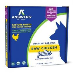 ANSWERS RAW DOG CHICKEN PATTIES 4lb DETIALED