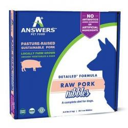 ANSWERS RAW DOG PORK NIBBLES 2.2lb DETAILED