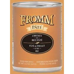FROMM DOG CHICKEN & RICE PATE 12.2oz CAN