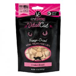 VITAL ESSENTIALS CAT FREEZE DRIED CHICKEN BREATS 1.0 OZ BAG