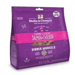 STELLA & CHEWY'S CAT YUMMY LICKIN' SALMON & CHICKEN MORSELS 8 OZ