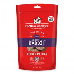 STELLA & CHEWY'S DOG ABSOLUTELY RABBIT PATTIES 14 OZ