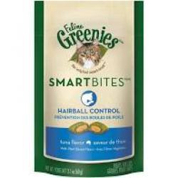 GREENIES CAT SMART BITES  HAIRBALL TUNA 2.1 OZ