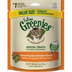 GREENIES CAT DENTAL TREAT CHICKEN 4.6oz BAG