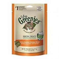 GREENIES CAT DENTAL TREAT CHICKEN 2.1oz BAG