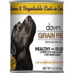 DAVES DOG GRAIN FREE CHICKEN & VEGGIE 13.2 oz CAN
