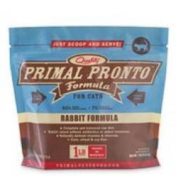 PRIMAL RAW CAT PRONTO RABBIT 1lb BAG FROZEN