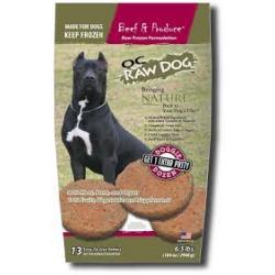 OC RAW DOG BEEF & PRODUCE 1 OZ SLIDERS 4LB BAG