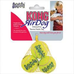 KONG AIRDOG SQKR BALL MEDIUM 3/PK