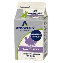 ANSWERS RAW DOG  TURKEY STRAIGHT BULK 1LB CARTON