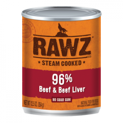 CASE RAWZ DOG BEEF & BEEF LIVER 12.5oz CAN