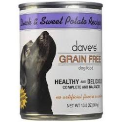 CASE DAVES DOG GRAIN FREE DUCK & SWEET POTATO 13.2 oz CAN