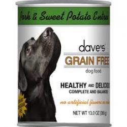 CASE DAVES DOG GRAIN FREE PORK & SWEET POTATO 13.2 oz CAN
