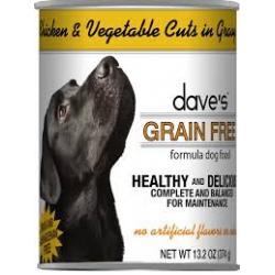 CASE DAVES DOG GRAIN FREE CHICKEN & VEGGIE 13.2 oz CAN
