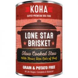 CASE KOHA DOG STEW LONE STAR BRISKET 12.7oz CAN CASE OF 12 CANS