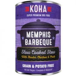 CASE KOHA DOG STEW MEMPHIS BARBEQUE 12.7oz CAN CASE OF 12 CANS
