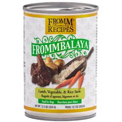 CASE FROMM DOG FROMMBALAYA LAMB STEW 12.5oz CAN CASE OF 12 CANS