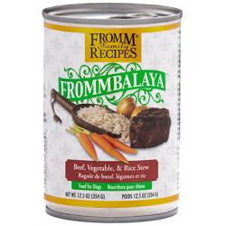 CASE FROMM DOG FROMMBALAYA BEEF STEW 12.5oz CAN CASE OF 12 CANS