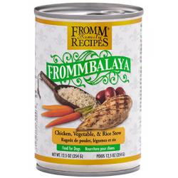 CASE FROMM DOG FROMMBALAYA CHICKEN STEW 12.5oz CAN CASE OF 12 CANS